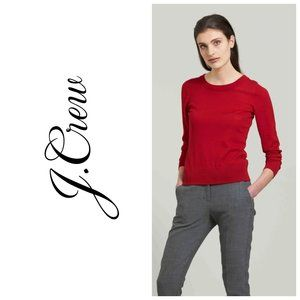 J. CREW 100% Merino Wool Burgundy Sweater